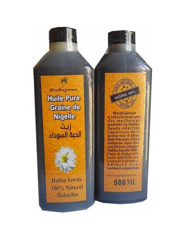 Huile naturelle de graine de nigelle – Habba Saouda 500ml