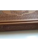Moushaf Mou'attar (Parfumé) en cuir gravé - Grand format (17x24cm)