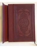 Moushaf avec fermoir aimenté en cuir gravé - Grand format (17x24cm) avec tranche dorée
